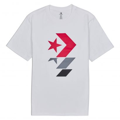 CONVERSE REPEATED STAR CHEVRON TEE
