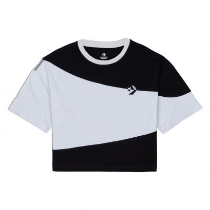 CONVERSE WOMENS RIVALRY C&S OS CROP TEE